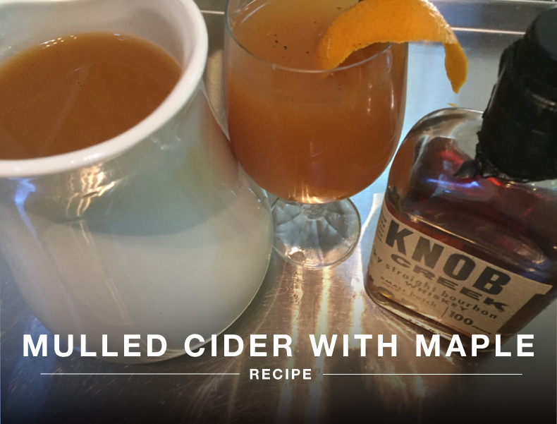 Mulled Cider with Maple Sous Vide Drink Recipe