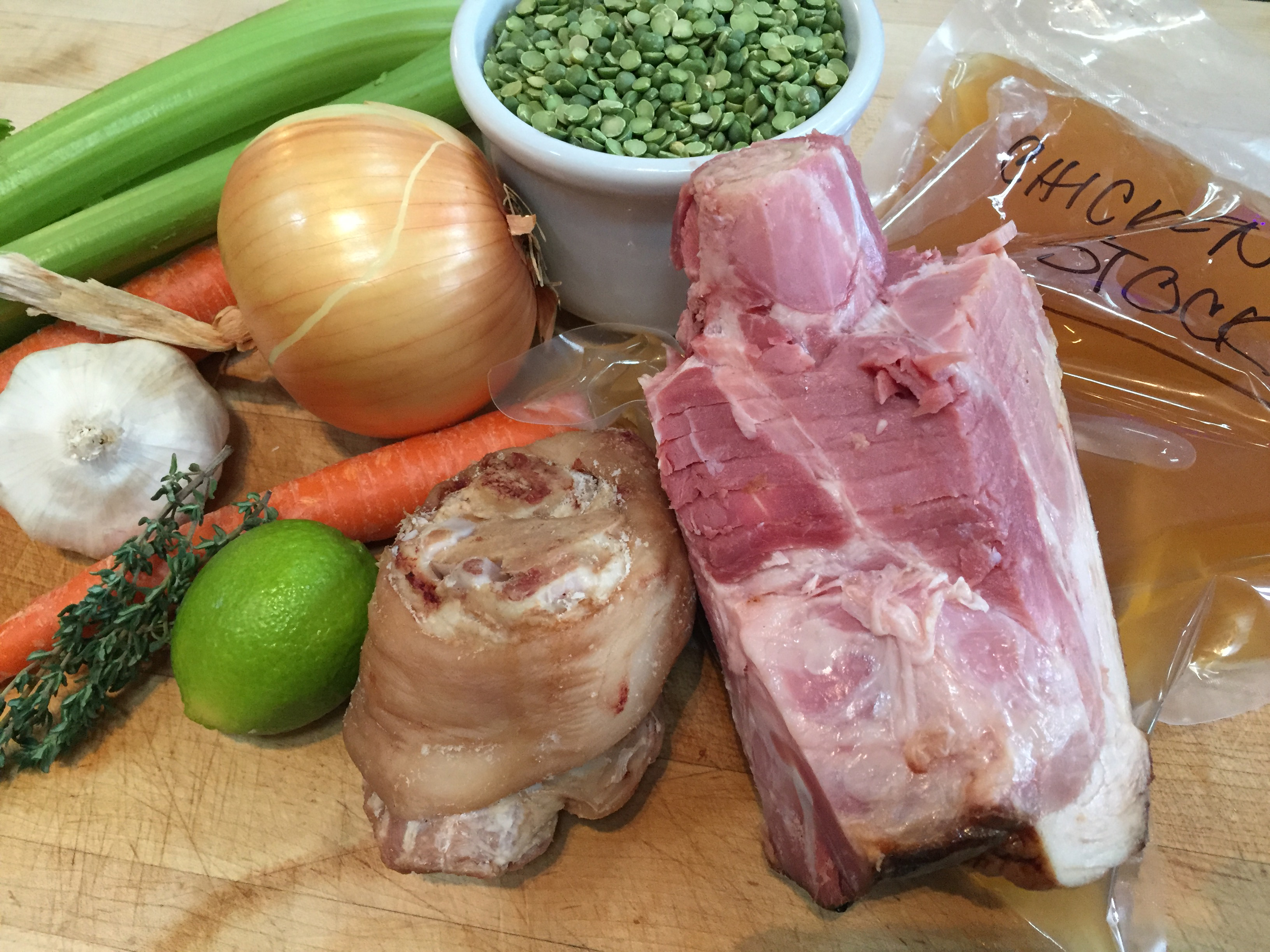 Split pea soup ingredients