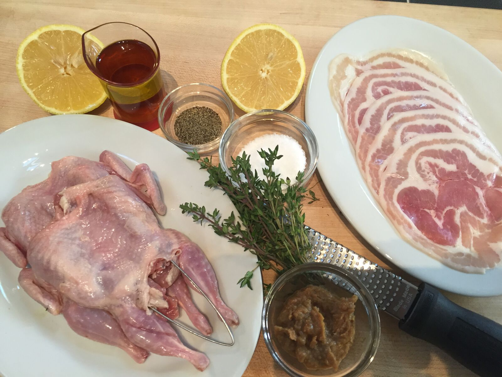 sous vide grilled quail with pancetta lemon and thyme vacmaster